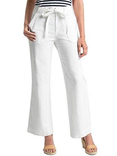 GAP Womens 100% Cotton Mid Rise Wide Leg Pants Optic White (US: ()