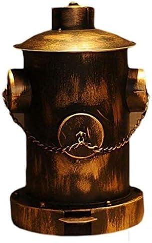 ゴミ袋 ゴミ箱用アクセサリ 創造的な産業風の消火栓ペダルのゴミ箱はバーの収納バケツの装飾をホーム キッチンゴミ箱 (Color : Brass)