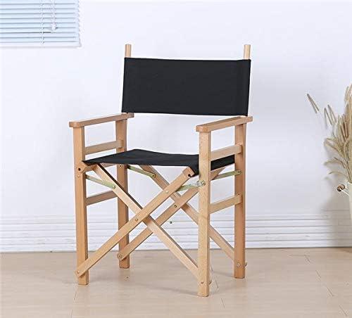 silla director madera plegable lona