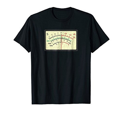 SWR Meter Amateur Ham Radio Novelty Distressed T-Shirt (Vintage Ham Radio)