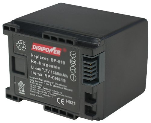 DigiPower BP-CN819 Digital Camcorder Battery Replacement for Canon BP-819 (Black) [並行輸入品]   B07586GN7L
