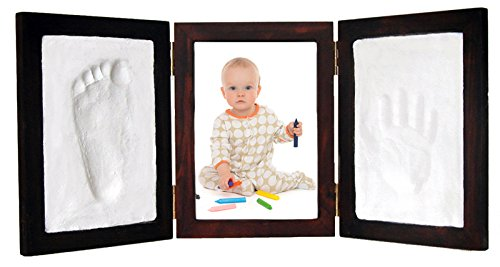 Proud Baby Clay Hand & Footprint Photo Keepsake Desktop Frame Kit (Red Mahogany)