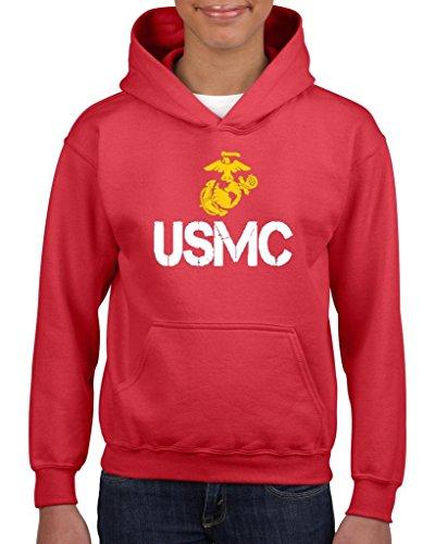 Artix Usmc Us Marine Corps People Fashion Clothing Best Friend Xmas Mothers Day Gifts Unisex Hoodie For Girls And Boys Youth Kids Sweatshirt Clothing Medium Red