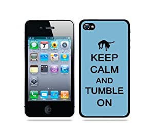 iphone covers Keep Calm And Tumble On Aqua - Protective Designer BLACK Case - Fits Apple Iphone 5c / 4G