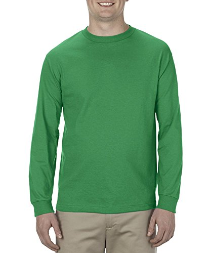- Alstyle Apparel AAA Men's Classic Cotton Long Sleeve T-Shirt, Kelly Green, Medium
