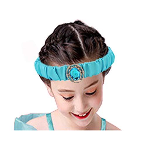 Girls Jasmine Princess Headband- New Tacobear Arabian Princess Halloween Party Costume Headpiece for Kids Toddler Child Teen Women (Party Costumes Christmas Abc)