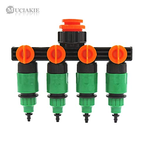 AZUDAN Garden Water Connectors| 4 Types of Garden Water Splitter 1/2'' to 3/4'' to 1'' Connector W/Valve to 8/11 4/7Mm Hose System Fitting by AZUDAN