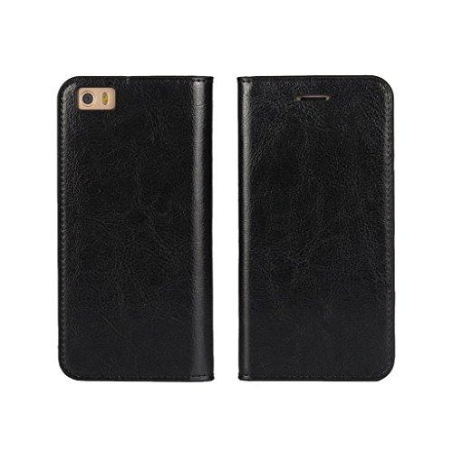 Wallet Flip Leather Case Cover For Xiaomi Mi 5 (Black) - 5