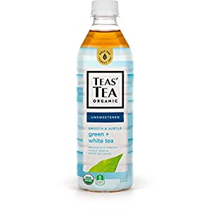 Teas' Tea Unsweetened Green White Tea, 16.9 Ounce (Pack of 12), Organic, Zero Calories, No Sugars, No Artificial Sweeteners, Antioxidant Rich, High in Vitamin C