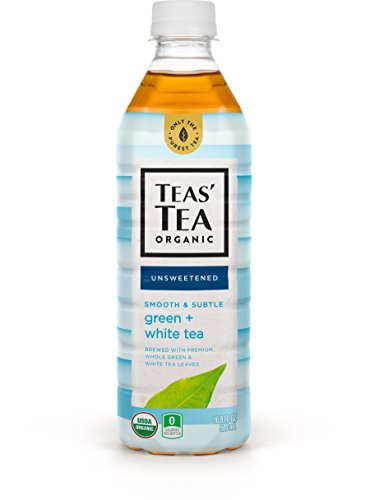 Teas' Tea Unsweetened Green White Tea 16.9 Ounce (Pack of 12) Organic Zero Calories No Sugars No Artificial Sweeteners Antioxidant Rich High in Vitamin C - Organic Chamomile White Tea