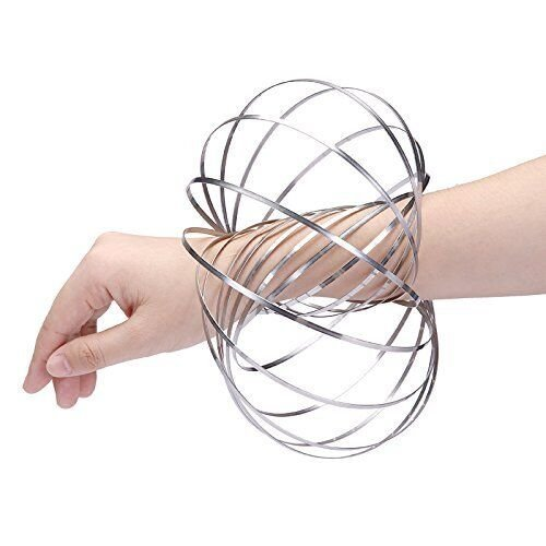 Kinetic Educational Spring Toy Multi Sensory Interactive 3D Shaped Flow Ring H /& I Magic Ring Flow Ring Original Kinetic Spring Toy H/& I Stainless Steel Ring
