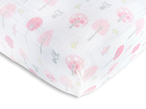 SwaddleDesigns Cotton Muslin Sheet Thicket product image