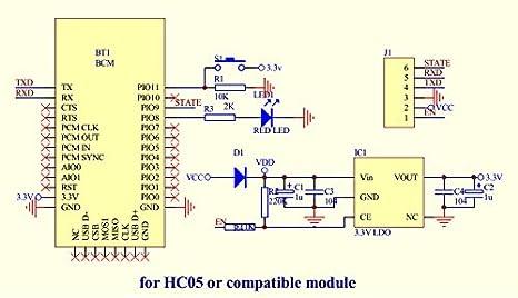 LeaningTech HC-05 Module Bluetooth Serial P-Through Module Wireless on
