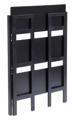 Winsome Wood Stackable/Folding 3-Tier Shelf, Black by Winsome Wood (Image #1)