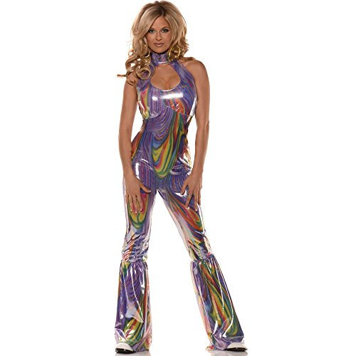 [Boogie Adult Costume Size Purple Small] (Disco Jumpsuit)