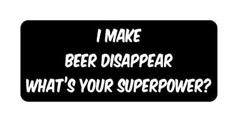 I make beer disappear Hard Hat Funny Stickers