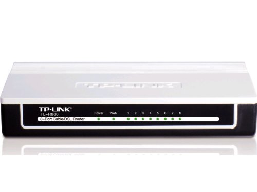 TP-LINK TL-R860 Advanced 8-Port Cable/DSL Router, 1 WAN Port, 8 LAN Ports