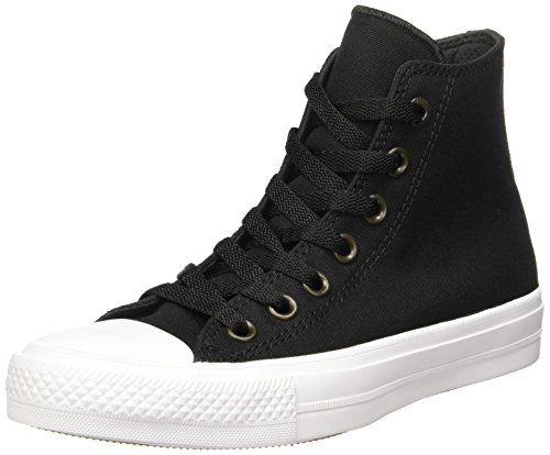 Converse Unisex Chuck Taylor All Star II Hi Black/White Casual Shoe 3.5 Men US / 5.5 Women US -