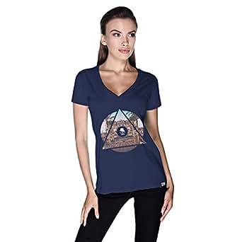 Creo Abu Dhabi T-Shirt For Women - L, Navy Blue