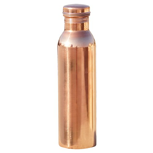 Fijoo Best Pure Copper Water Bottle – Large Capacity Thermos Flask – Handmade Joint Free  Leak Proof – Ayurvedic Purity Health Benefits – Great for S…