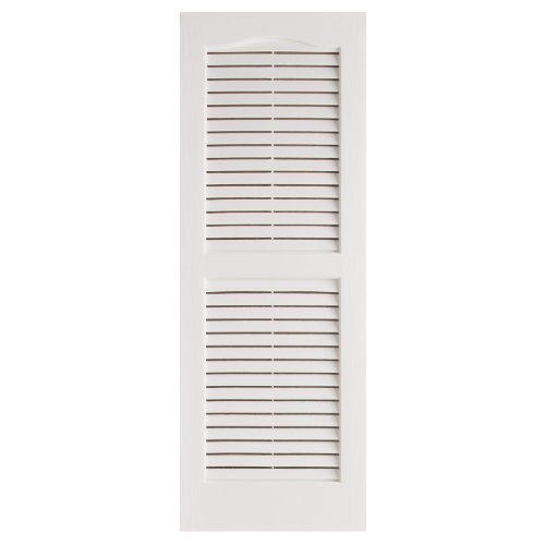 Alpha VNB1539WHOL 14-Inch by 39-Inch Open Louver, White, 2-Pack
