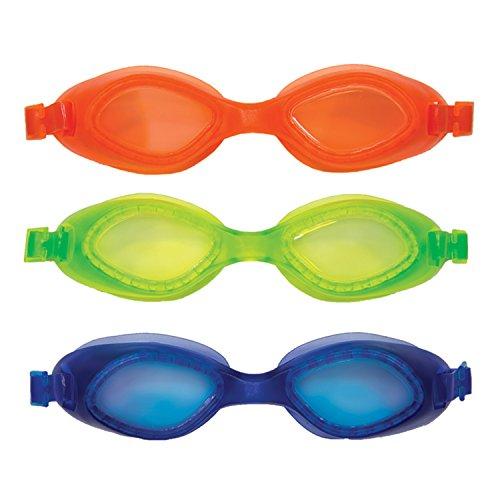 SwimWays Fish Face Tarpon Trainer Swim Goggles, 3 Pack