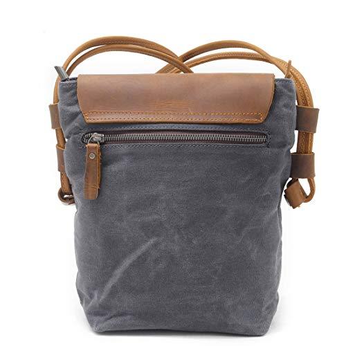 Dark en Canvas kleur Grey Yy4 voor Crossbody Man Messenger Work Day Messenger School Bag Kervinfendriyun Vintage Grijs 46Pw0pxqw