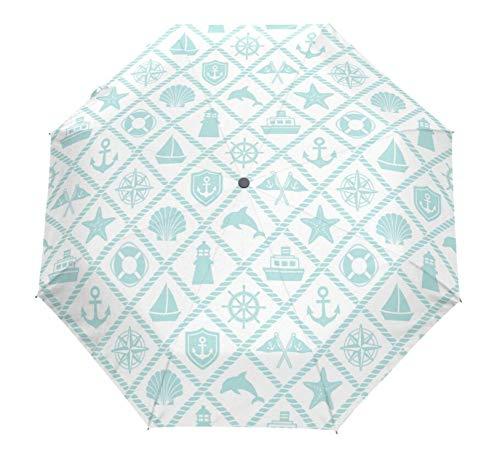 Beautiful Design Creative Automatic Umbrella Rain Women Umbrellas Three Folding Paraguas Anti-UV Sun/Rain Cute Umbrella Parasol,Red (Patio Designs Gates)
