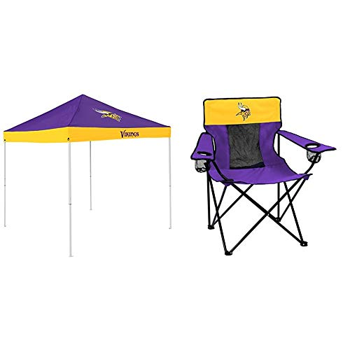 Logo Brands Minnesota Vikings Tent and Chair Package