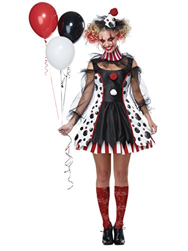 Cute Female Costumes (California Costumes Twisted Clown Adult Costume-Medium)