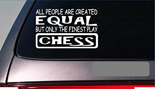 Chess Master Equal Sticker *G626* 8″ Vinyl Board Pawn Marble Chess Set Decal Vinyl Sticker For Cars, Trucks, Laptops, Fridge and More