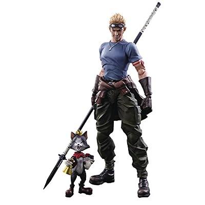 Square Enix Final Fantasy VII Advent Children: CID Highwind & Cait Sith Play Arts Kai Action Figure 2 Pack: Toys & Games