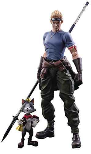 Square Enix Final Fantasy VII Advent Children: CID Highwind & Cait Sith Play Arts Kai Action Figure 2 Pack from Square Enix