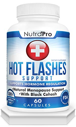Hot Flashes Menopause Relief - Supports Hot Flashes. with Black Cohosh,Dong Quai,Licorice Root.60 Caps.Made in USA.