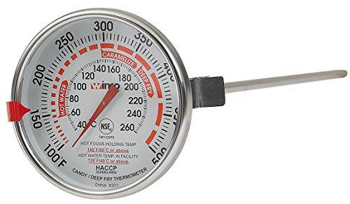 Winco 3-Inch Dial Deep Fry/Candy Thermometer with 12-Inch Probe ()