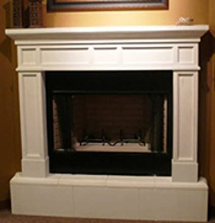 Amazon Com Mission Precast Fireplace Mantel And Surround In Paint