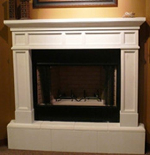 Mission Precast Fireplace Mantel and Surround in Paint Grade Gypsum Mission Stone Fireplace