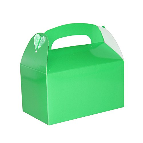 Green Bright Color Treat Boxes (Pack of 12) - Play Kreative TM (Green) ()