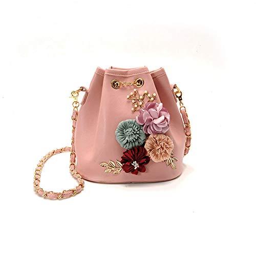 diagonale di benna rosa fiore Pacchetto femminile Sacchetto della spalla borsa della della del della dolce di signora dentellare pompaggio modo UEqIw58vz5