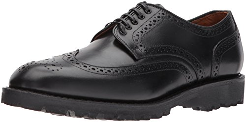 (Allen Edmonds Men's Tate Wingtip Blucher with Perfing Detail and Lug Sole Oxford, Black Calf, 10 D US)