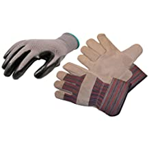 G & F 15193-50155L Contractor's Choice I Work Gloves Assortment, 2 Styles, Bulk Package, Large, 8-Pair