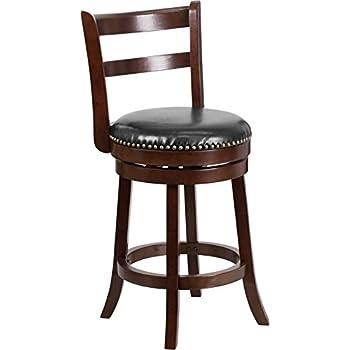 Amazon Com Dyersburg 26 Quot H Wood Counter Stool Cappuccino