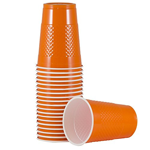 JAM PAPER Plastic Party Cups - 16 oz