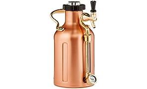GrowlerWerks uKeg Pressurized Growler, 64 oz, Copper