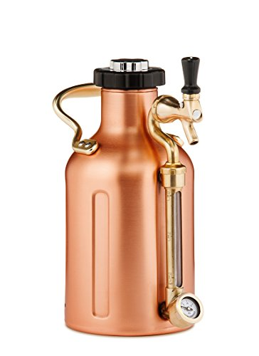 uKeg 64 oz Pressurized Growler for Craft Beer - Copper