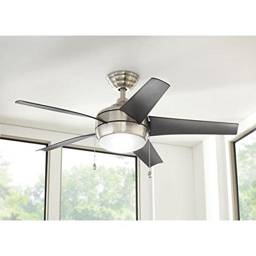Home Decorators Collection Home Decorators 44 Windward Brushed Nickel Ceiling Fan