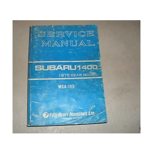 1975 Subaru 1400 Service Shop Repair Manual Oem 75 Subaru