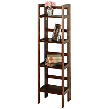 element tall narrow 5 shelf bookcase white whitehaven painted solid wood this item walnut finish tier