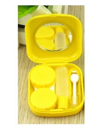 Sheery E 2 PCS Mini Travel Contact Lens Case Kit Holder Mirror Box -