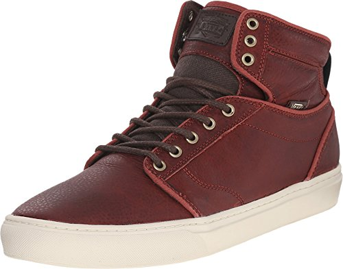 Vans Alomar + Mens Brown Leather Lace Up Sneakers Shoes 6.5